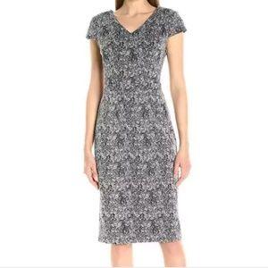 Betsey Johnson Metallic Silver Sheath Dress